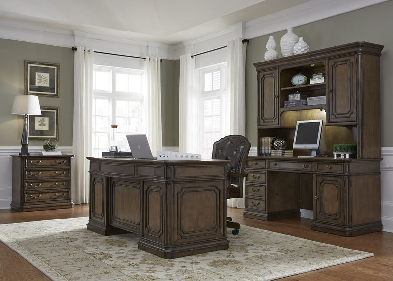 Amelia Executive Desk and Computer Desk with Hutch