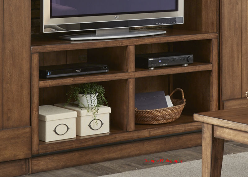 Lancaster II Entertainment Center with TV Stand, 2 Piers, Bridge