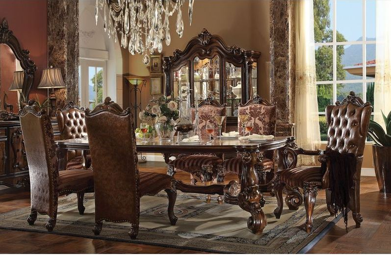 710809 Lucca Cherry Dining Set Von Furniture Free Shipping