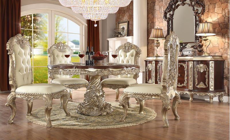 875355 Massa Formal Dining Room Set With Round Table Von Furniture Free Shipping