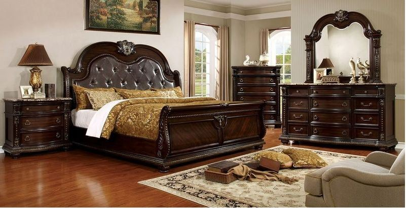 Matera Bedroom Set in Brown Cherry