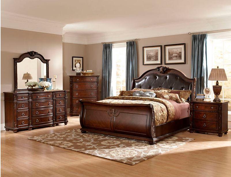 Monza Bedroom Set with Sleigh Bed