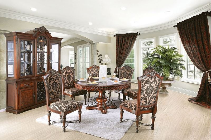Novara Formal Dining Room Set with Round Table