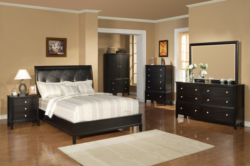 bedroom set on Olean Espresso Bedroom Set   Modern And Affordable