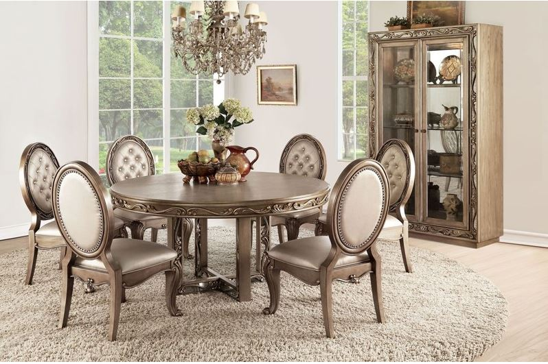 Oxford Formal Dining Room Set with Round Table