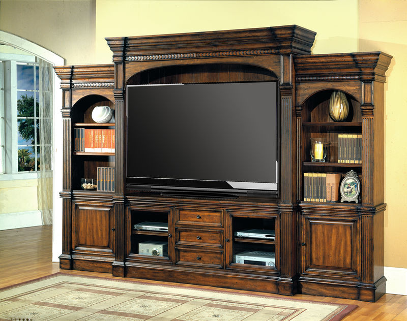 genoa entertainment center with 77 inch console. Black Bedroom Furniture Sets. Home Design Ideas