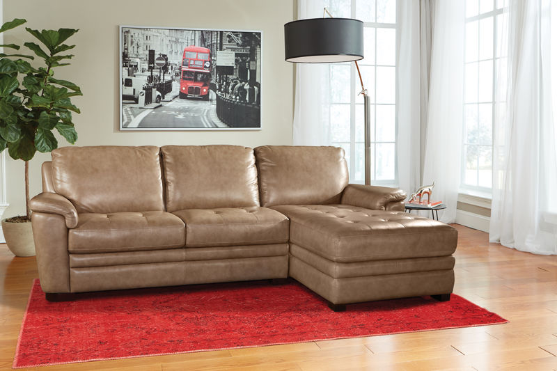Alpine L-Shaped Leather Sectional