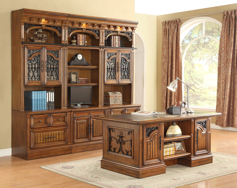 Barcelona Computer Desk With Hutch
