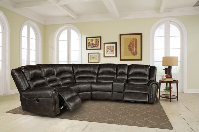 Gershwin Reclining Sectional in Ember