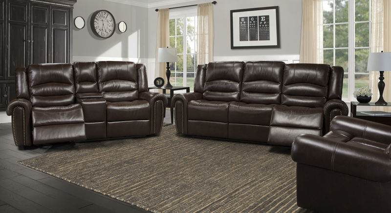 Von furniture gershwin reclining living room set in java for J m furniture soho living room collection