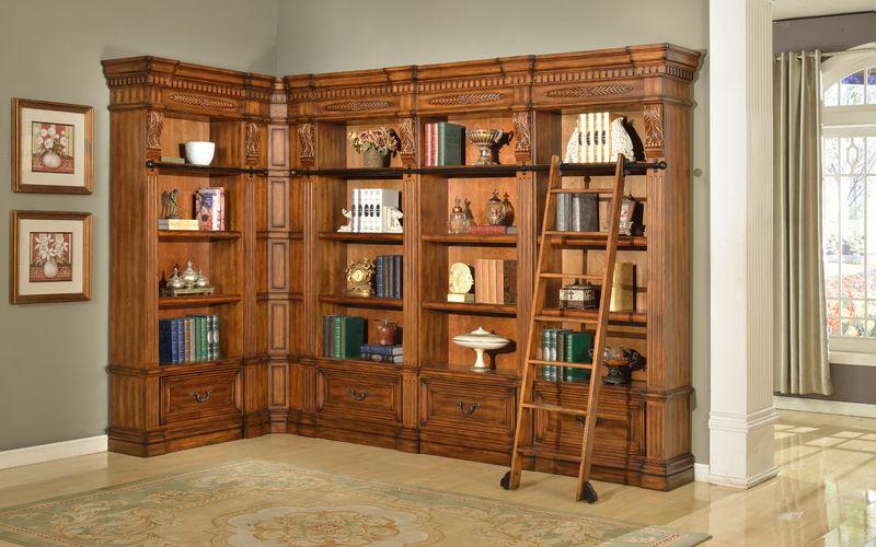 Granada Museum Corner Bookcase - Large