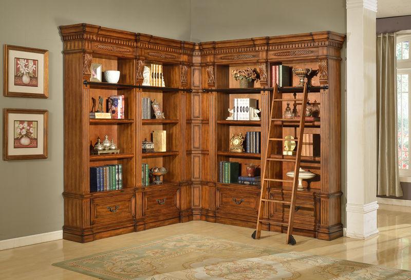Granada Museum Corner Bookcase Large