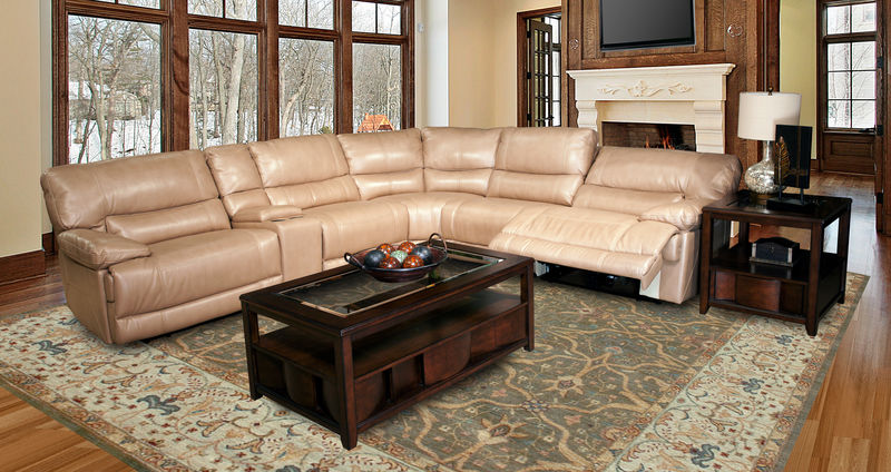 Pegasus Reclining Sectional in Sand