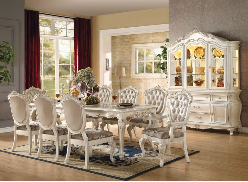 894112 Parma White Dining Set | Von Furniture | Free Shipping