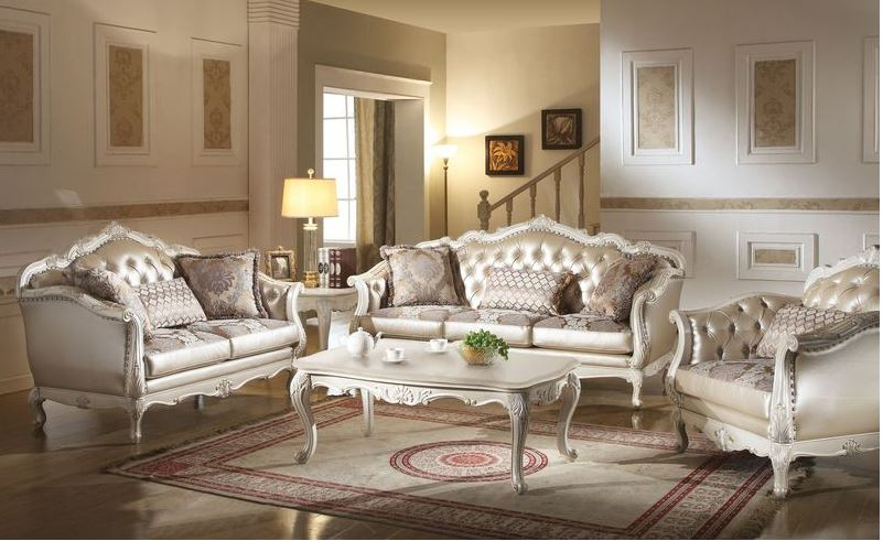 428217 Parma White Sofa Set | Von Furniture | Free Shipping