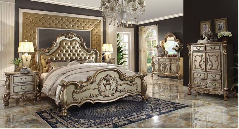 Pisa Bedroom Set in Gold