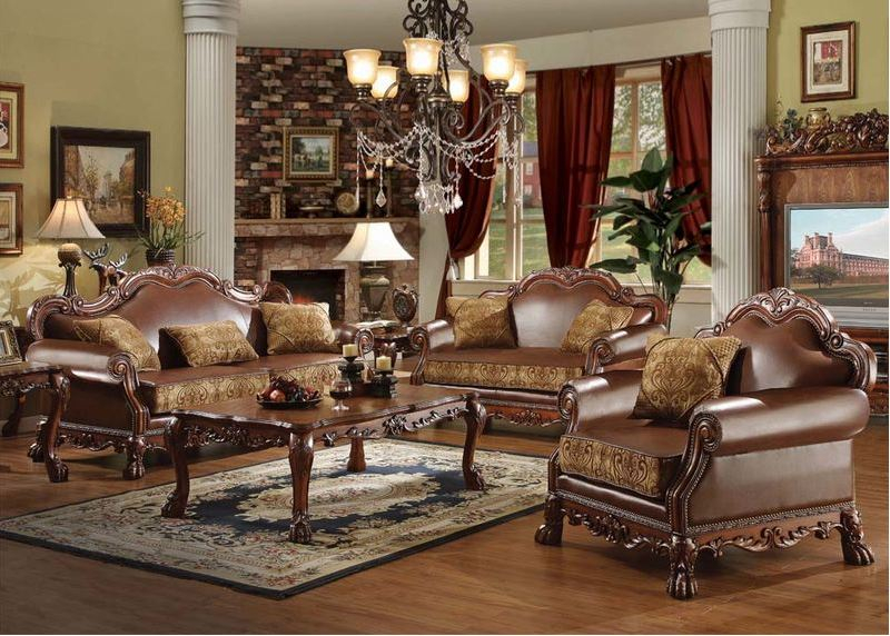 Pisa Formal Living Room Set in Cherry