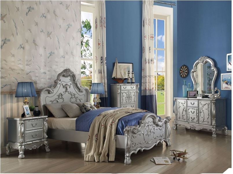 Pisa Youth Bedroom Set in Silver