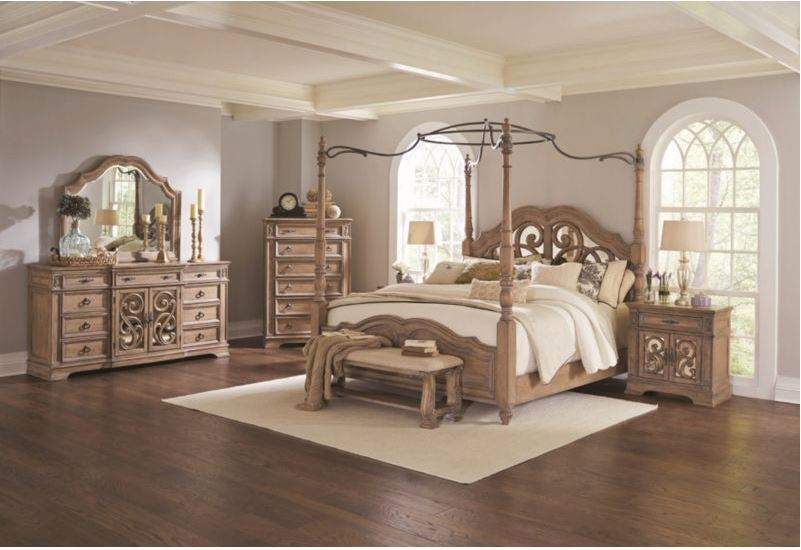 Rome Bedroom Set with Canopy Bed
