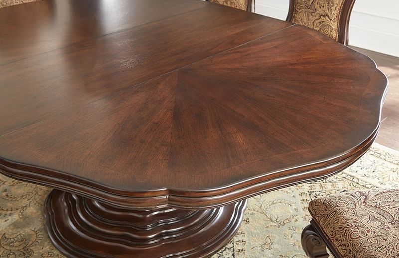 Angelina Formal Dining Room Set With Round To Oval Table Part 48