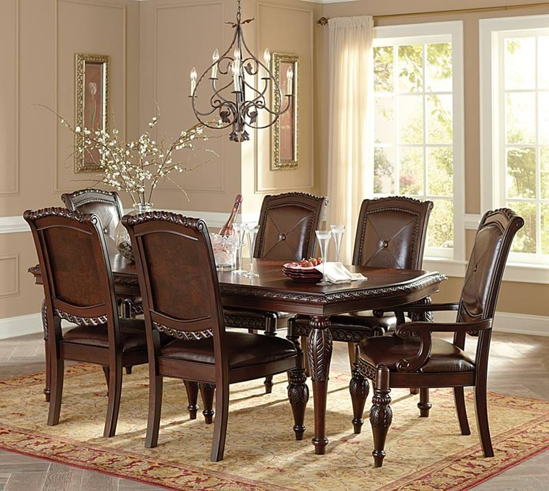 Antoinette Formal Dining Room Set with Leg Table