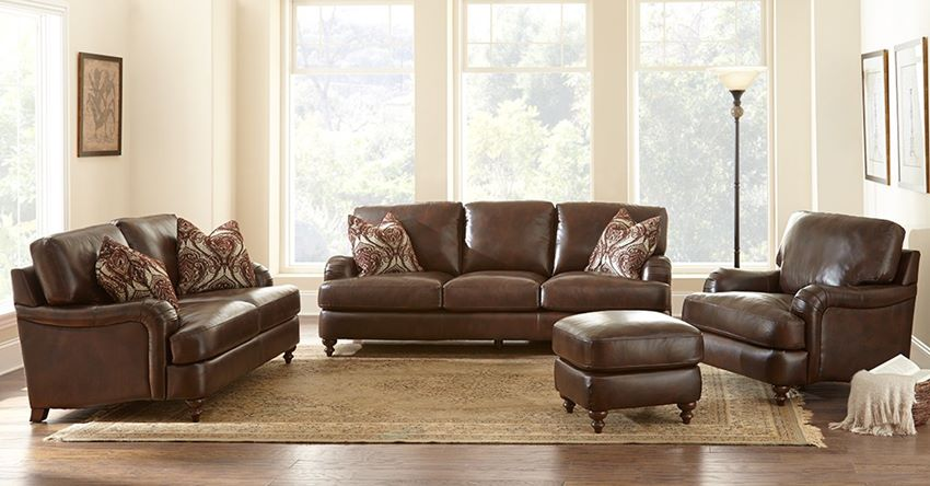 CR900 Charles Leather Sofa Set | Steve Silver | Free Shipping