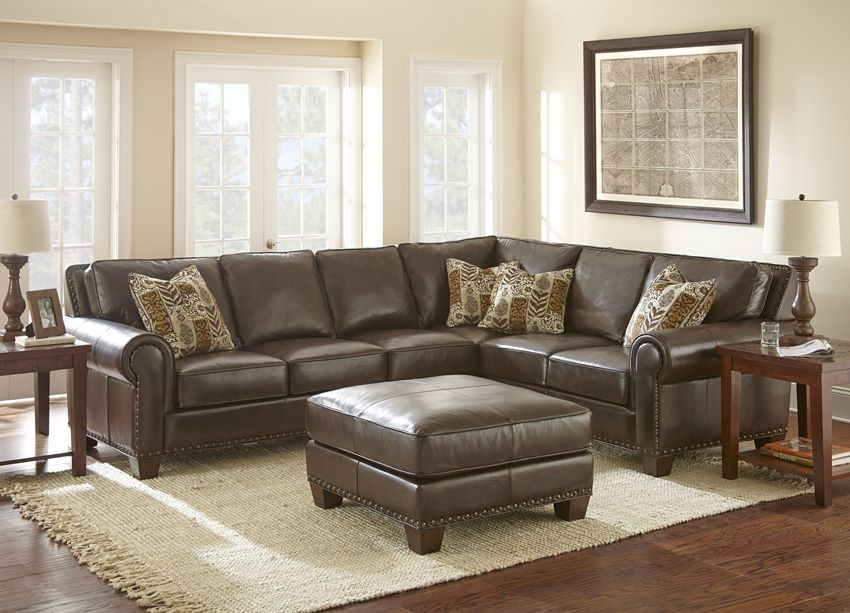 Von Furniture Escher Leather Sectional