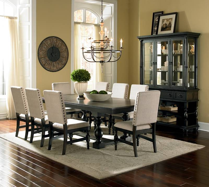 Von furniture leona formal dining room set for Formal dining room table and chairs