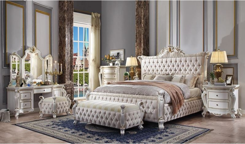 Summer Bedroom Set with Upholstered Bed