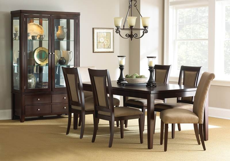 wasilla espresso dining room set the wasilla dining room set showcases