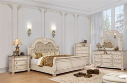 Florence Bedroom Set in Antique Whitewash