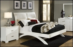 Ashland White Contemporary Bedroom Set