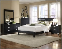 Irving Black Bedroom Set with Platform Bed
