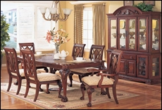 Preston Cherry Dining Room with China Cabinet