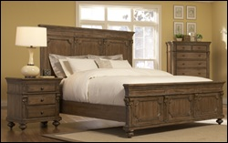 Wheaton Rustic Style Bedroom Set