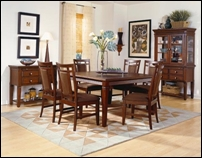 Richland Casual Square Dining Room Table Set