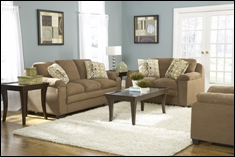 Riverside Brown or Buff Microfiber Living Room Set