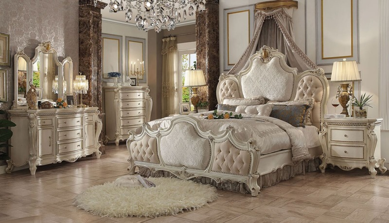 Picardy Bedroom Set with Fabric Headboard