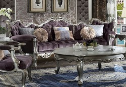 Picardy Formal Living Room Set in Platinum