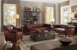 Aberdeen Leather Living Room Set