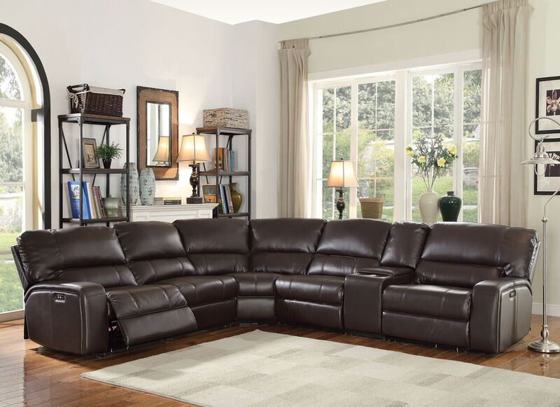 Saul Reclining Sectional in Espresso