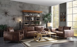 Burgess Leather Living Room Set
