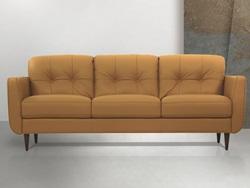 Radwan Leather Living Room Set in Camel