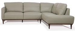 Tampa RSF Leather Sectional in Green