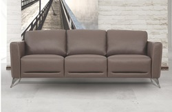 Malaga Leather Living Room Set in Taupe