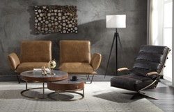 Narech Leather Sofa with Swivel