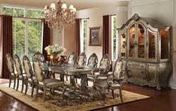 Ragenardus Formal Dining Room Set in Vintage Oak