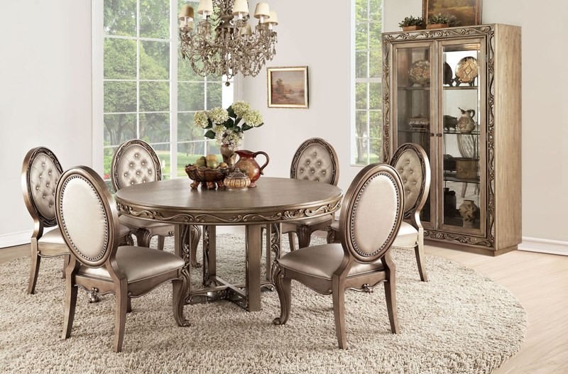 Orianne Formal Dining Room Set with Round Table
