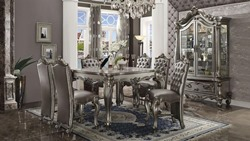 Versailles Counter Height Dining Room Set in Platinum