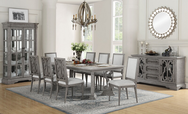 Von Furniture Chantelle Formal Dining Room Set In White